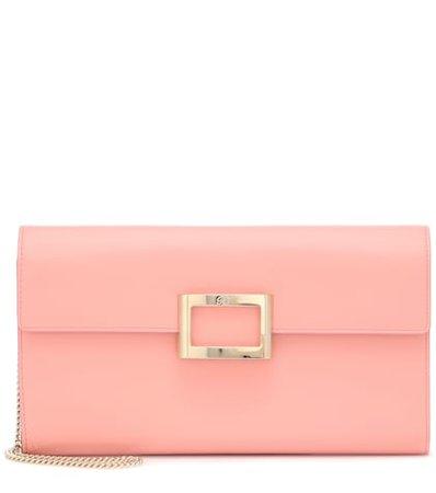 Viv' Envelope leather clutch