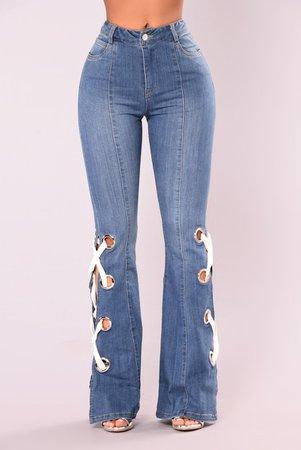 Ring My Bell Bottom Jeans - Medium