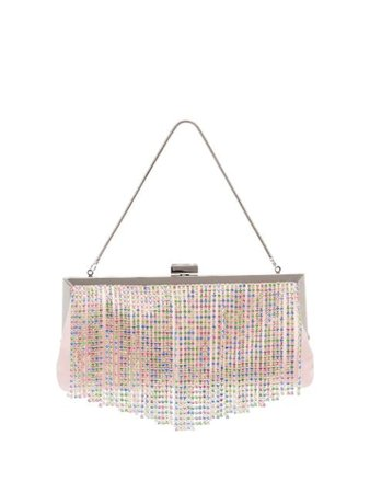 Black & Brown Pattie crystal-fringe Shoulder Bag - Farfetch