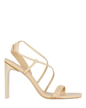 Cult Gaia Abella Ruched Leather Sandals | INTERMIX®