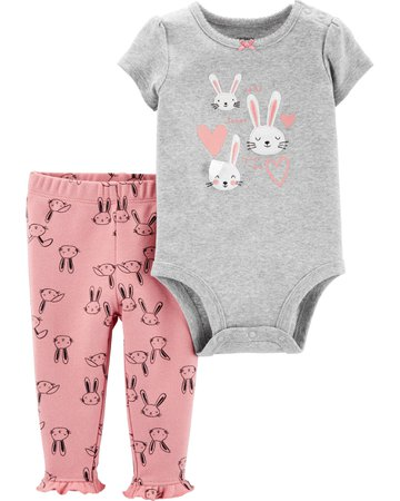 2-Piece Bunny Bodysuit Pant Set | carters.com