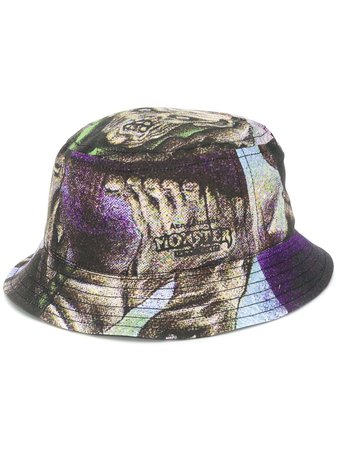 Acne Studios Monster In My Pocket Abstract Print Bucket Hat Ss20 | Farfetch.com