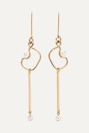 Meadowlark | Clio 9-karat gold pearl earrings | NET-A-PORTER.COM