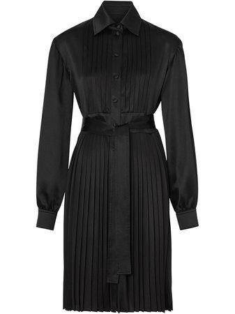Burberry Pleated Shirt Dress | Farfetch.com