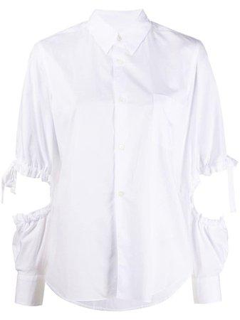 Comme Des Garçons Girl Camiseta Con Detalle De Aberturas - Farfetch