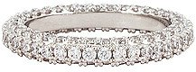 Pave Triple Band Ring