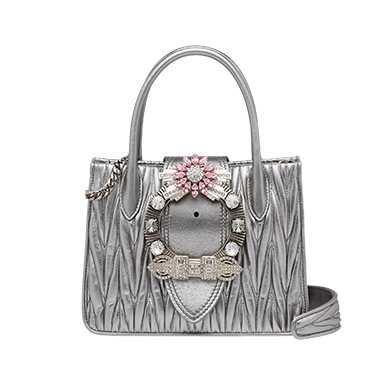 Miu Lady matelassé leather handbag | MiuMiu