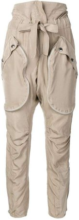 paper-bag waist trousers