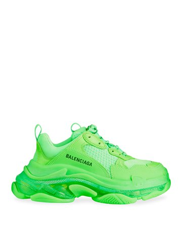 Balenciaga Triple S Clear-Sole Trainer Sneakers