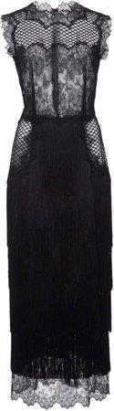Dolce & Gabbana Fringed Lace Midi Dress