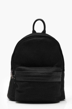 Mesh And Pocket Rucksack | Boohoo