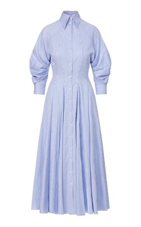 Striped Cotton Shirt Dress By Brandon Maxwell   Moda Operandi