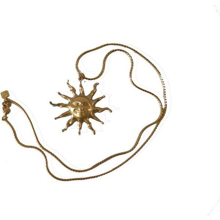 gold sun necklace
