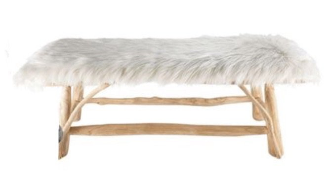boho bench