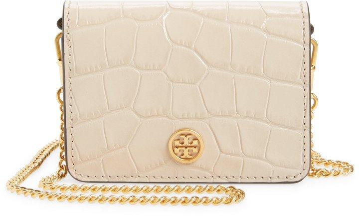 Nano Walker Leather Wallet on a Chain