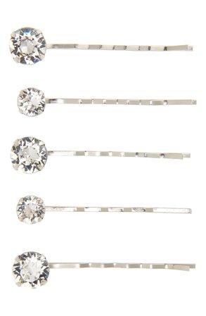 Jennifer Behr 5-Pack Crystal Bobby Pins | Nordstrom