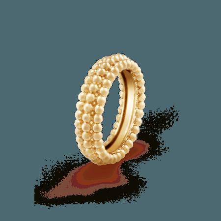 Perlée pearls of gold ring, 3 rows - VCARP0X800- Van Cleef & Arpels