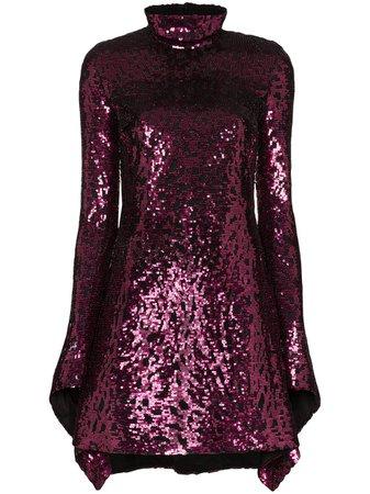 Halpern Draped Sequinned Mini Dress Ss20 | Farfetch.com