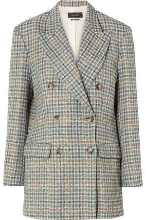 Isabel Marant | Telis oversized checked tweed blazer