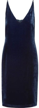 Constance Velvet Dress - Navy
