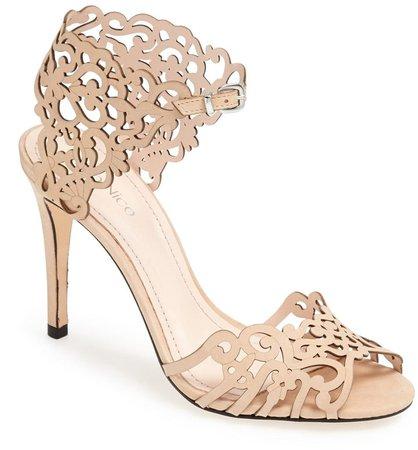 'Moxie' Laser Cutout Sandal
