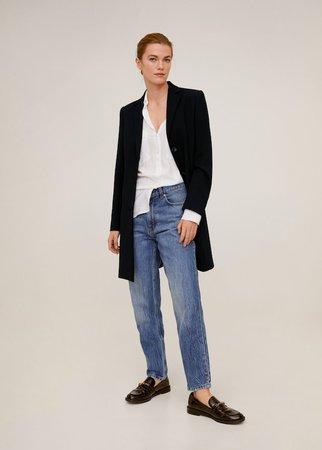 Lapels structured coat - Women | Mango USA