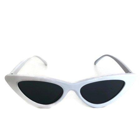 White Sunglasses Retro Sunglasses Minimal Sunglasses | Etsy