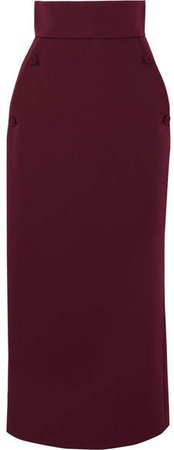 Cady Pencil Skirt - Burgundy