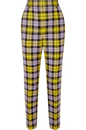 Versace | Checked woven straight-leg pants | NET-A-PORTER.COM
