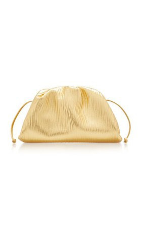 The Mini Pouch Metallic Leather Clutch By Bottega Veneta   Moda Operandi