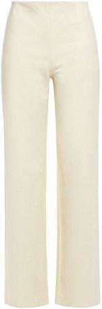 Stretch-cotton Ponte Wide-leg Pants