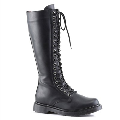 Tall Black Combat Boots