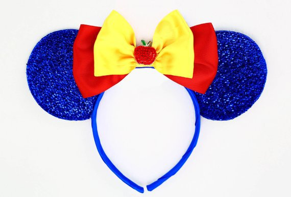 Snow White Ears Blue Minnie Mouse Ears Headband Snow White