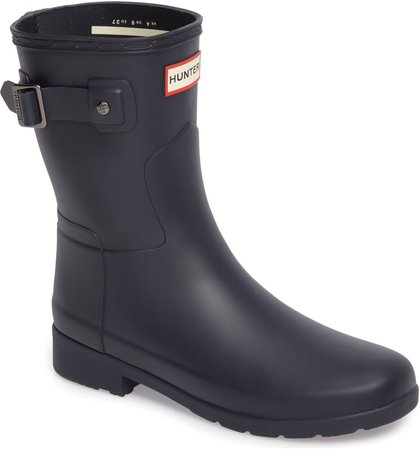 Hunter Original Refined Short Waterproof Rain Boot (Women) | Nordstrom