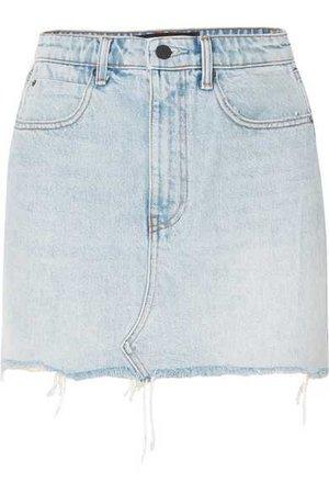 Alexander Wang   Distressed denim mini skirt   NET-A-PORTER.COM