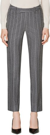 Robin Classic Fit Chalk Stripe Wool Trousers