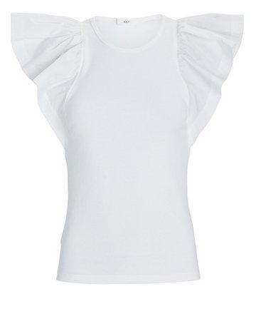 A.L.C. Lucinda Flutter Sleeve T-Shirt | INTERMIX®