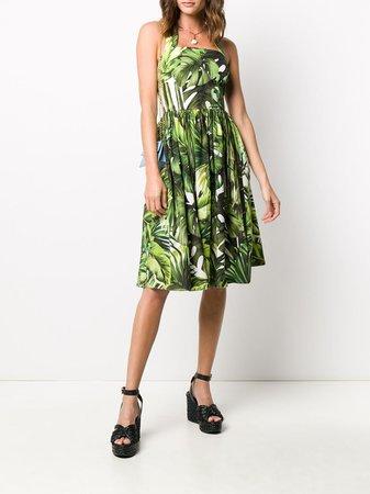 Dolce & Gabbana Neckholder-Kleid Mit Print - Farfetch