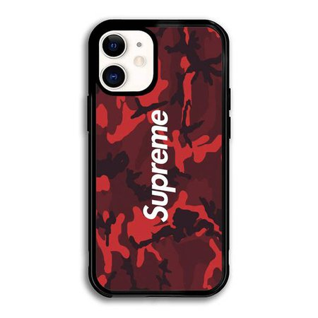 Supreme Red Camo iPhone 12 Case WC4887 – Wonderfull Case