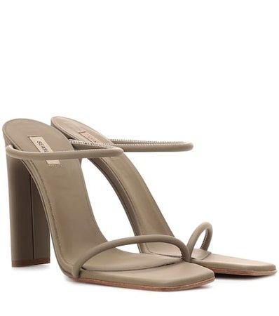 Rubberised leather sandals (SEASON 6)