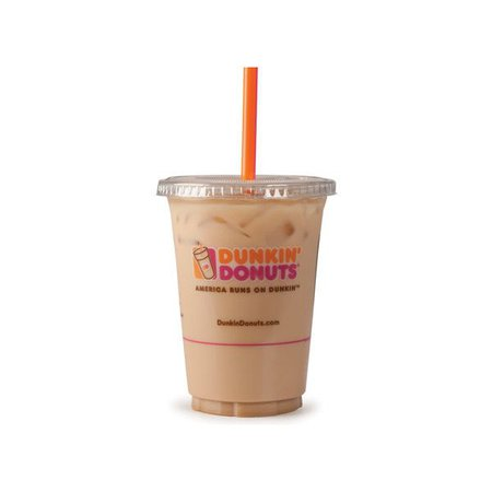 Picturemic.com ❤ liked on Polyvore featuring drinks, food, food and drink and drink to go | Dunkin iced coffee, Dunkin donuts iced coffee, Dunkin