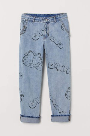 Patterned Jeans - Blue