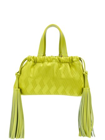 The Attico Patterned Tassel Detail Mini Tote Bag - Farfetch