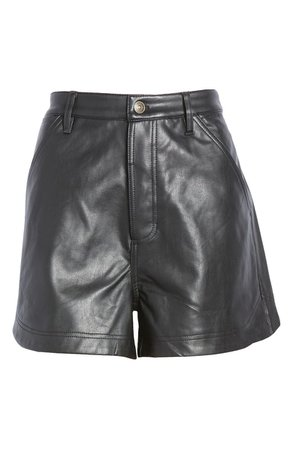 Lita Faux Leather Shorts   Nordstrom