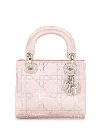 Pink Christian Dior pre-owned mini Lady Dior Cannage bag 04MA1006 - Farfetch
