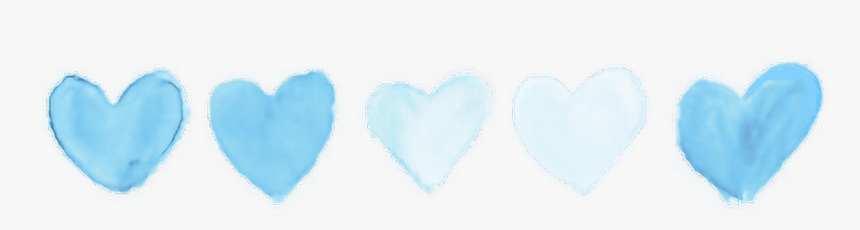 #blue #pastel #tumblr #heart #hearts #aesthetic #aesthetics - Instagram Photo Theme Divider, HD Png Download - kindpng