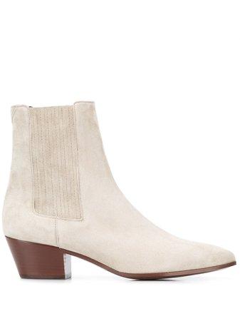 Saint Laurent West Chelsea Boots 6066070LI00 Neutral | Farfetch