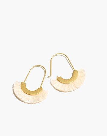 Arc Wire Fringe Earrings