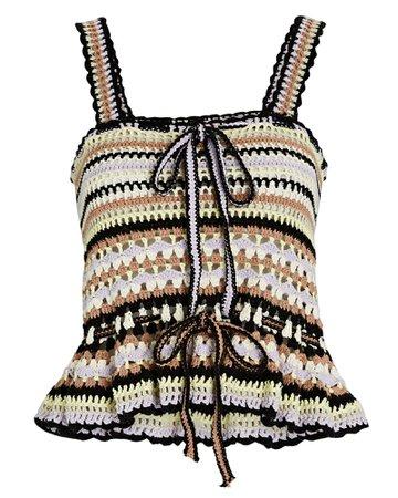 Ulla Johnson Zita Crochet Knit Tank Top | INTERMIX®