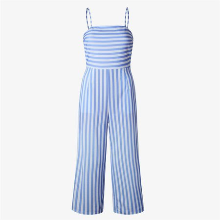 Beal New Jumpsuit Women Striped Clubwear Playsuit Sleeveless Jumper Bodycon Party Jumpsuit Female Summer Backless Romper $27.96  bealbaby